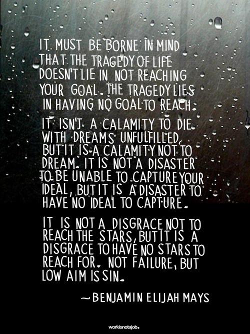 Frase: De metas, sueños, y fracasos