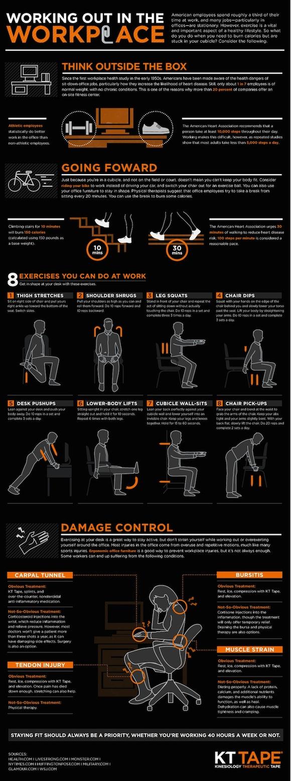 Hacer ejercicios en el trabajo