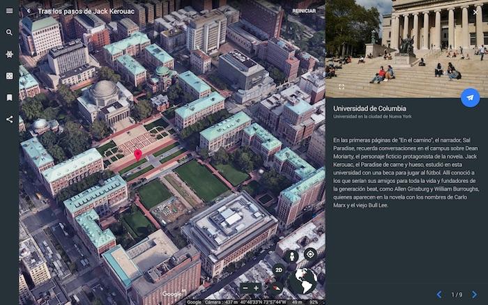 Un tour virtual por Google Earth siguiendo los pasos de Jack Kerouac