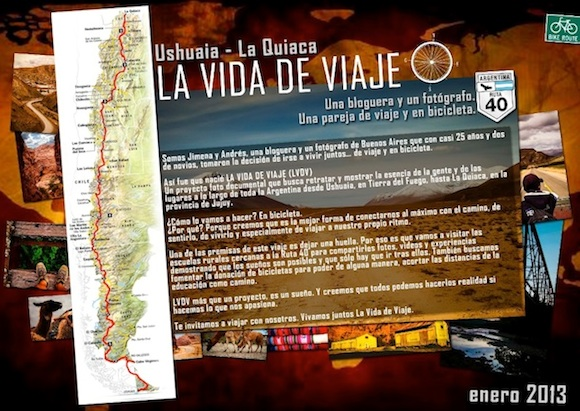 La vida de viaje: Jimena y Andres viajan en bicicleta de Ushuaia a la Quiaca
