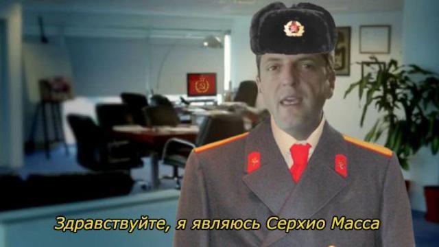 Massa le habla a la comunidad rusa