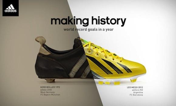 Los 86 goles de Messi: Adidas - Making history