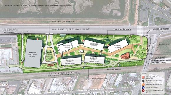 Planos del nuevo campus de Facebook 2013 - Frank Gehry