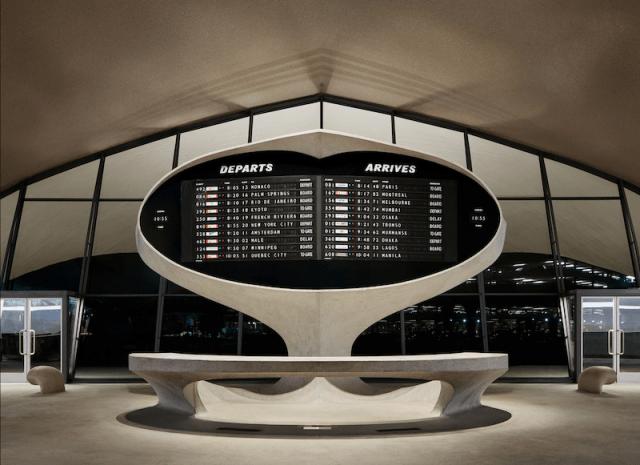 El tablero de vuelos del twa hotel