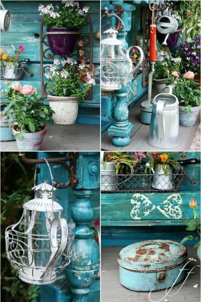 l 39 arte del riciclo arredare un giardino in stile shabby chic quello sbagliato vintage. Black Bedroom Furniture Sets. Home Design Ideas