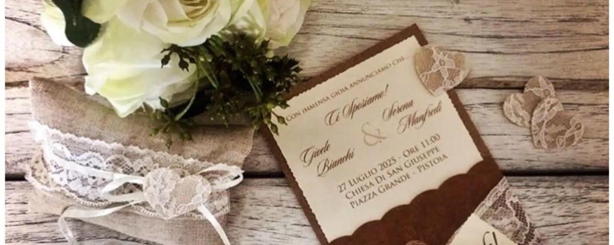 shabby chic matrimonio partecipazioni