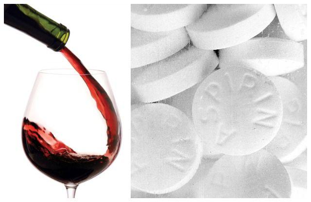 el vino contiene el principio activo de la aspirina