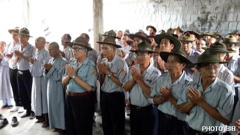 Các Huynh trưởng GĐPT đại diện các Miền trên toàn quốc về tham dự Lễ Húy nhất Đức cố Đệ Tứ Tăng Thống tại Tu viện Nguyên Thiều - Hình PTTPGQT