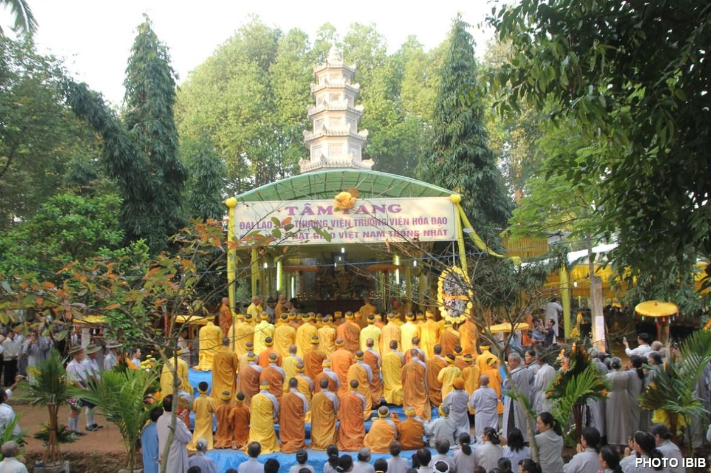 Nơi đặt Kim Quang và Linh đài Đại lão Hoà thượng Thích Như Đạt cạnh Bảo Tháp