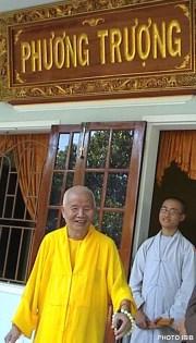 Đức Cố Đệ tứ Tăng Thống Thích Huyền Quang tại Tu viện Nguyên Thiều