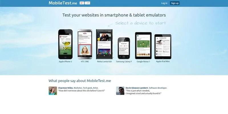 mobiltest, emulador de diseño responsive en moviles y tablets