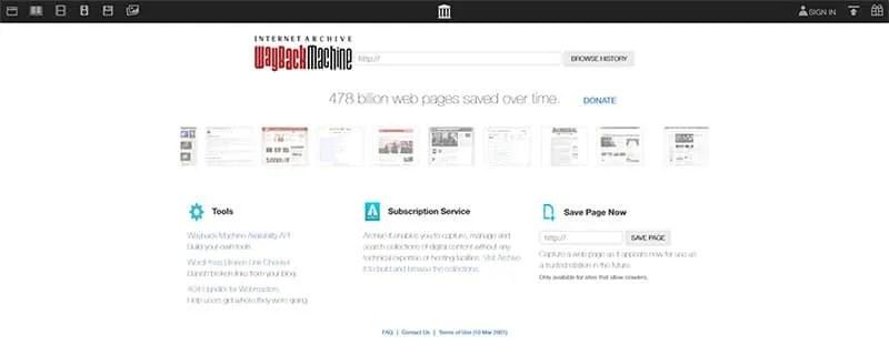 ¿Cómo ver una versión antigua de una página web?