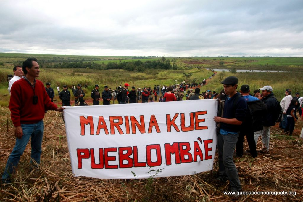Acto de conmemoración del 15 de junio de 2013, a 1 año de la masacre en Marina kue. Foto: Hugo Valiente