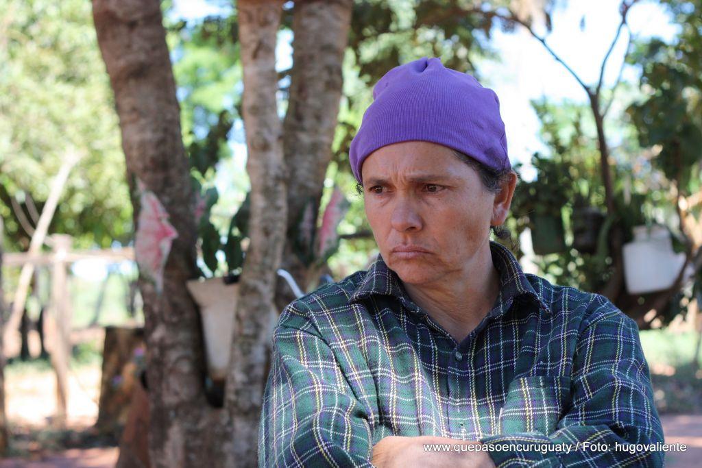 Lidia Romero de Agüero (46 años), madre de De los Santos Agüero, fallecido en la matanza de Marina kue. Setiembre de 2012, Curuguaty.