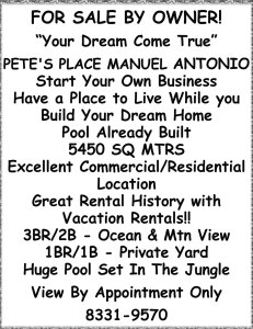 Pete's Place for sale
