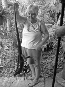 Landlady with Iguana