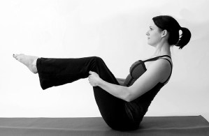 Assisted Half Boat Pose