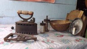Iron, Lamp, Bowl & Flashlight