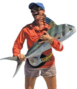 Sarah and roosterfish