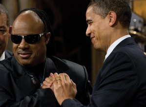 Stevie Wonder & President Obama