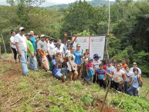 Tree planting at the Gamboa Family Farm