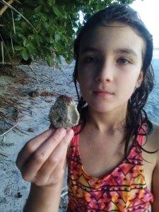 Karma with a seashell