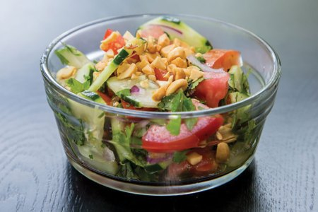 Thai-Style Tomato and Cucumber Salad with Mint, Basil, and Cilantro