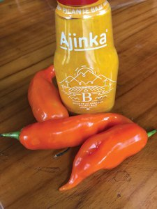 Aji peppers and ajinka sauce