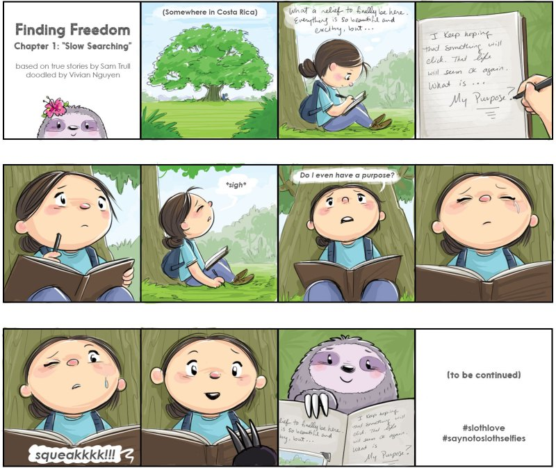 Finding freedom comic strip