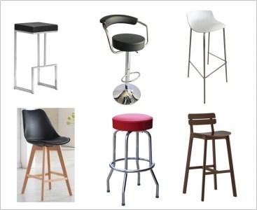 Variety of 6 bar stools