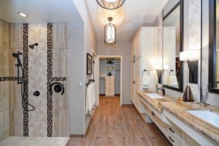 Spacious remodeled bathroom
