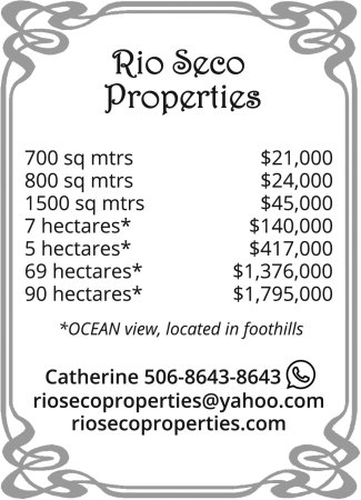 Rio Seco Properties ad