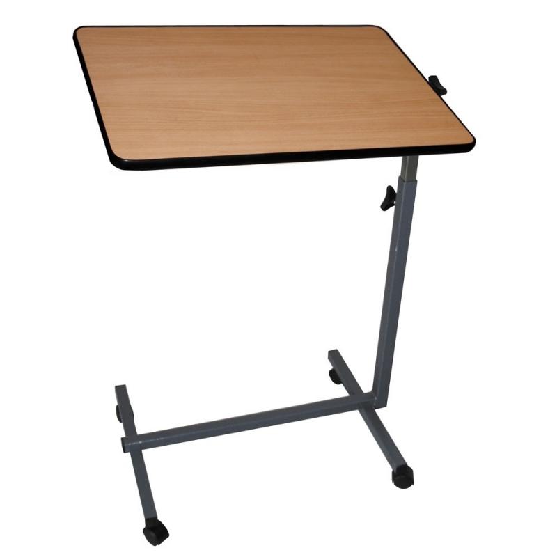 table d appoint avec roulettes pour lit et canape pliante couleur bois