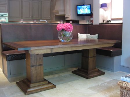 Handmade Oak Extending Kitchen Table