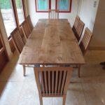 Natural Edge Oak Dining Table