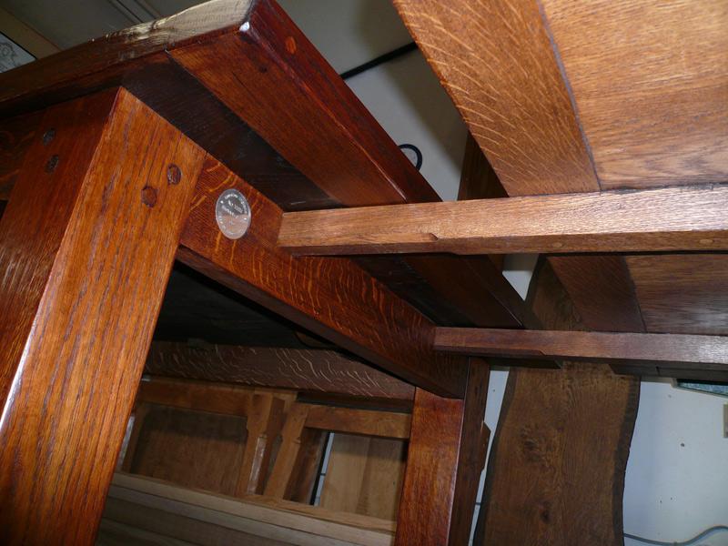 Underside View of Handmade Extending Refectory Table