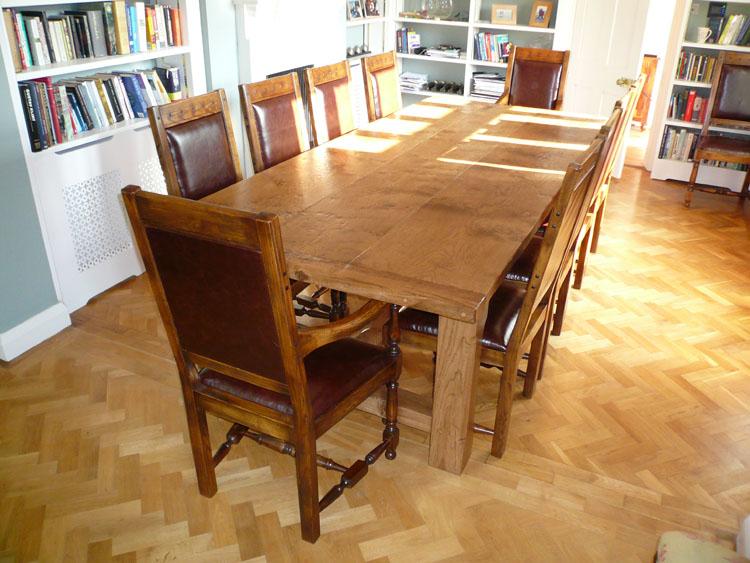 Bakers Oak Refectory Table