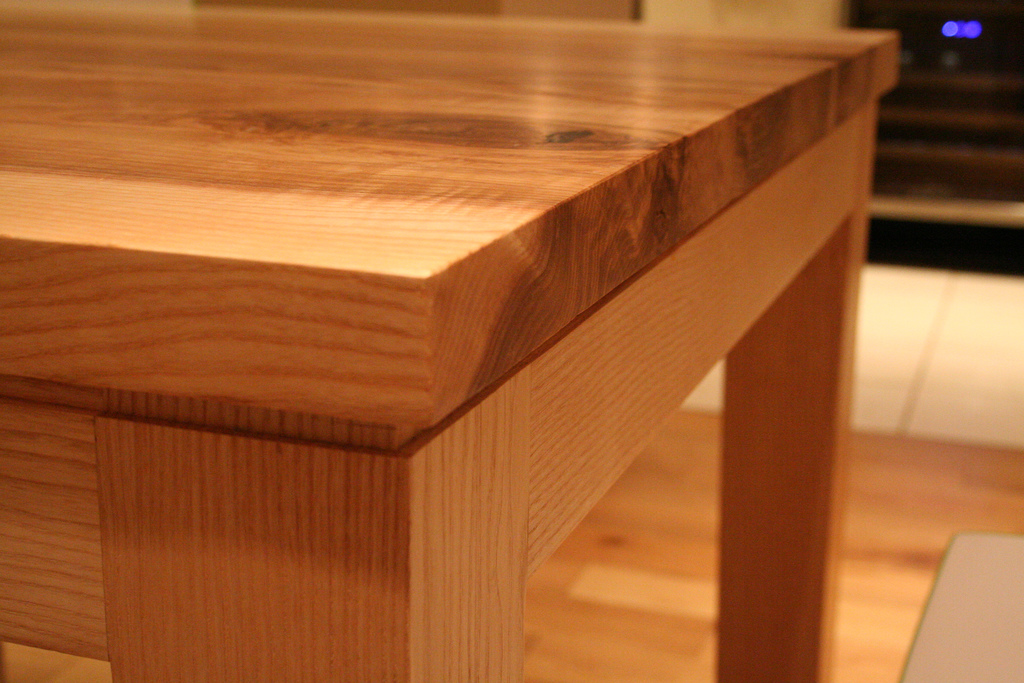 Handmade Dining Table - Side view