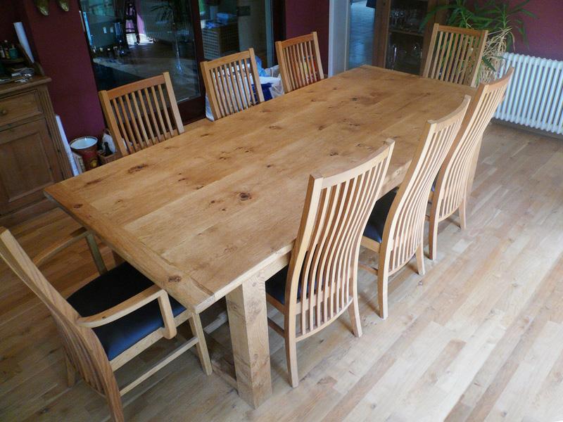 Bespoke Pippy Oak Refectory Table & Chair