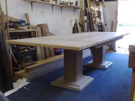 Handmade Oak Extending Refectory Table