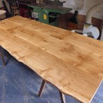 Handmade 3 Board Solid Oak Table