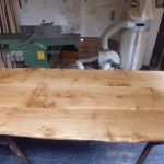 Handmade 3 Board Solid Oak Table width=