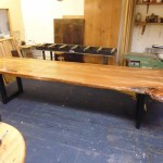 Large Elm Dining Table