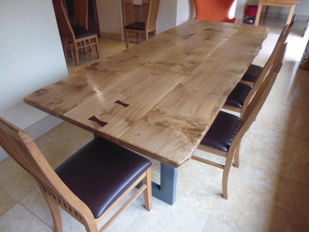 Large live edge dining table quercus furniture for Large dining table