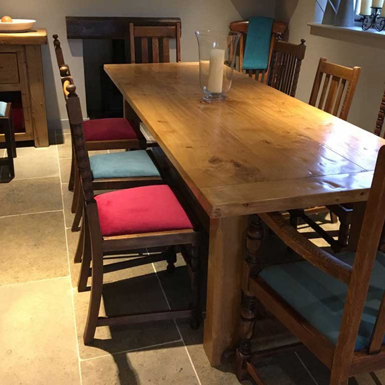 espoke Handmade Extending Refectory Table in Situ