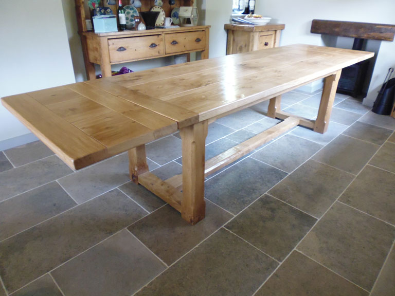 12 Seat Bespoke Handmade Extending Refectory Table