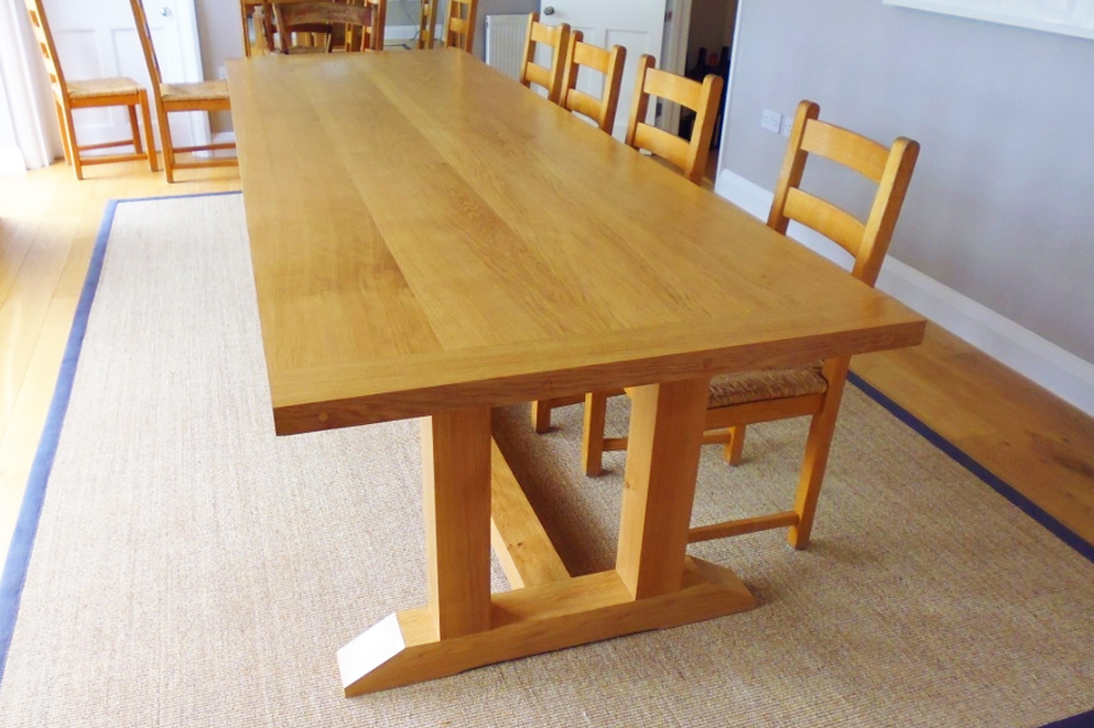 Large Bespoke Oak Dining Table