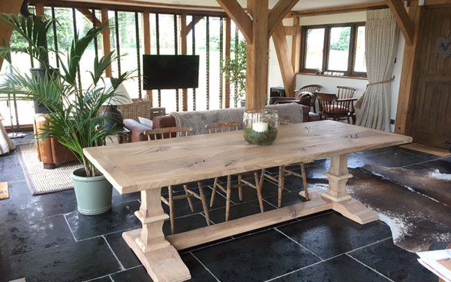 Large Bespoke Handmade Oak Table
