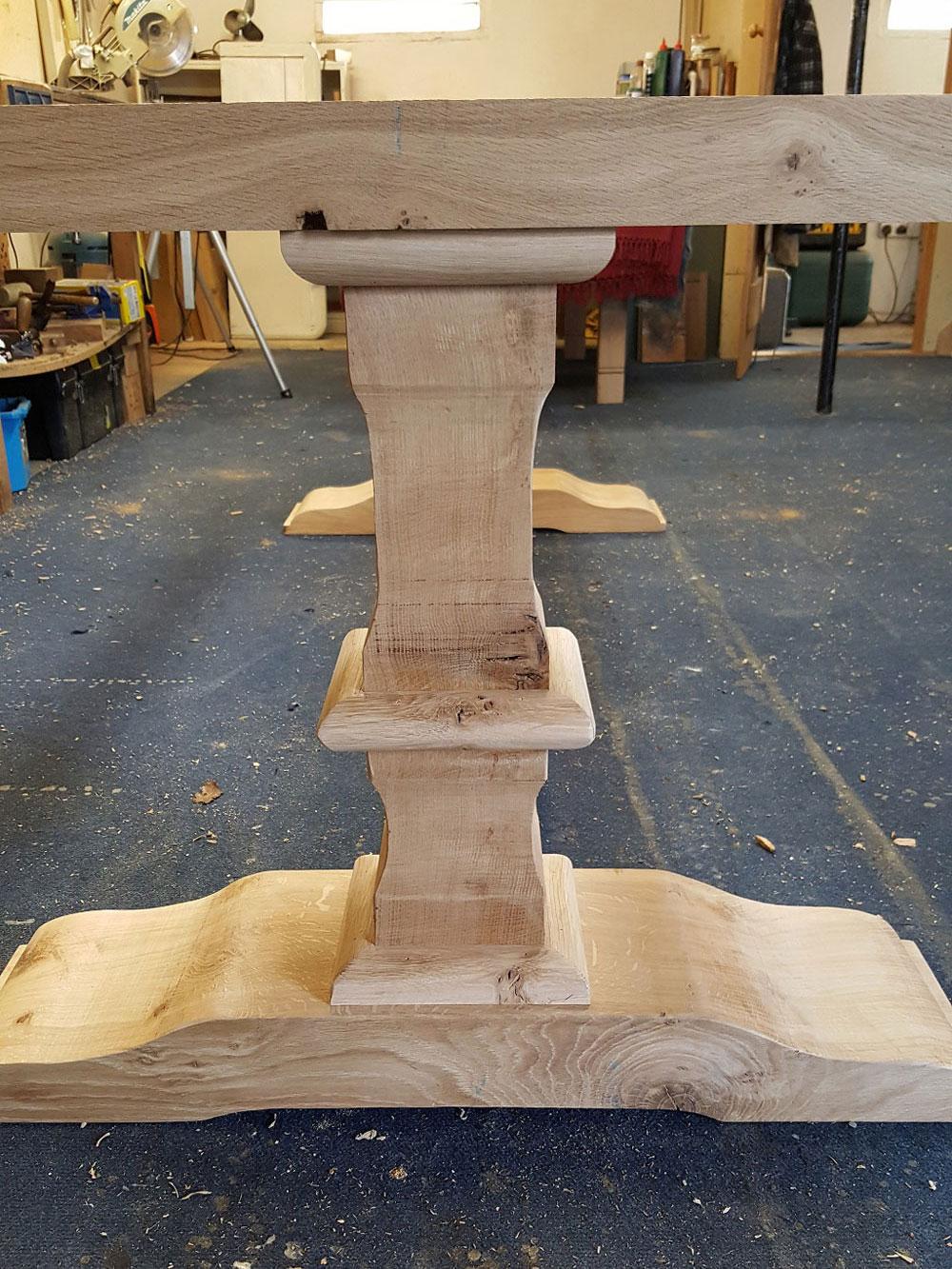 Handmade Oak Table Pedestal Base