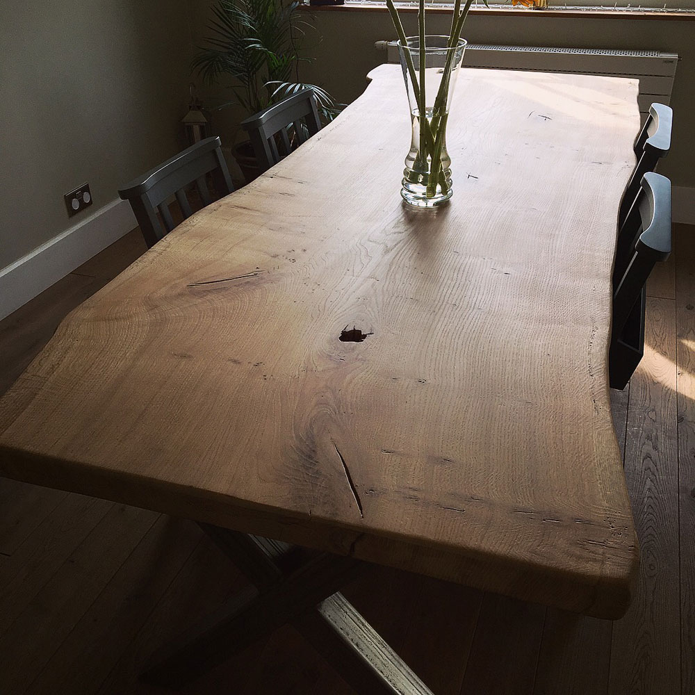 Handmade Single Slab Waney Edge Table